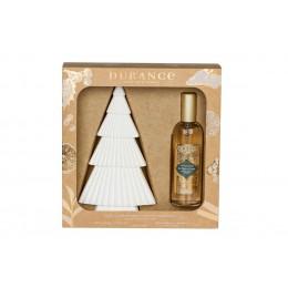 Набор духи-спрей для дома и керамическое дерево для нанесения спрея , аромат Под елью