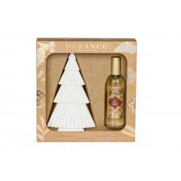 Набор духи-спрей для дома и керамическое дерево для нанесения спрея , аромат Падуб